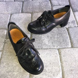 Chie Mihara Wingtip Oxford Leather Classy Lace-Up Loafers Pump size 5.5/ 36.5